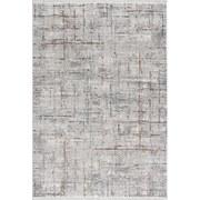 Hochflor Teppich Grau/Weiß Bergamo 160x230 cm - Weiß/Grau, MODERN, Textil (160/230cm)