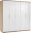 Ruhásszekrény Wien - Tölgyfa/Fehér, konvencionális, Faalapú anyag (226/212/56cm)
