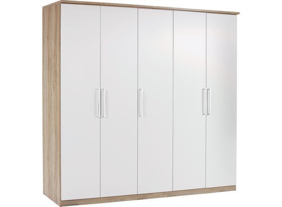 Skříň Šatní Wien - bílá/barvy dubu, Konvenční, kompozitní dřevo (226/212/56cm)
