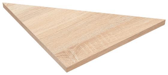 Police Nástěnná Skate 35/35 - Sonoma dub, Moderní, dřevěný materiál (35/1,8/35cm)