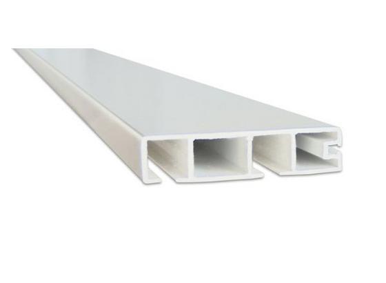 Vorhangschiene Weiß - Weiß, KONVENTIONELL, Kunststoff (250cm) - Ombra
