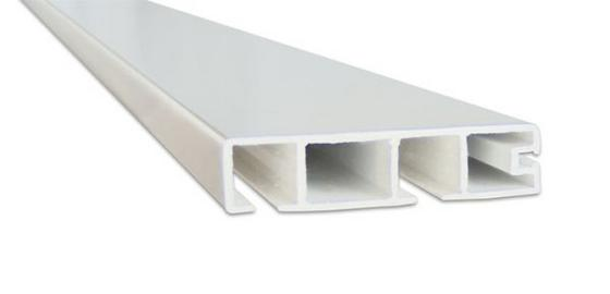 Vorhangschiene Weiß - Weiß, KONVENTIONELL, Kunststoff (250cm)