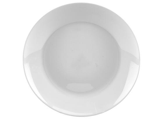 Lapostányér Olivia - Fehér, konvencionális, Üveg (25cm)