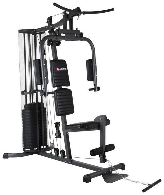 Kraftstation Multi-gyms Ultra - Dunkelgrau/Schwarz, MODERN, Kunststoff/Metall (105/200/167cm) - Hammer