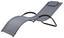 Sonnenliege Bea Aluminium, Textilene mit Kissen - Anthrazit/Silberfarben, MODERN, Textil/Metall (168/63/68cm) - Ombra