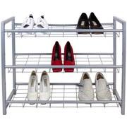 Schuhregal Shoe - Silberfarben, MODERN, Metall (80/60/30cm) - Homezone