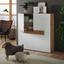 Taburet Natalia -trend- - bílá/přírodní barvy, Romantický / Rustikální, dřevo/kompozitní dřevo (16,50/34,5/42cm) - Modern Living