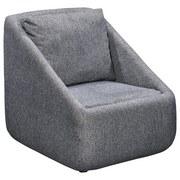 Sessel Jule B: 70 cm Dunkelgrau - Dunkelgrau/Schwarz, Basics, Holzwerkstoff/Textil (70/80/84cm)