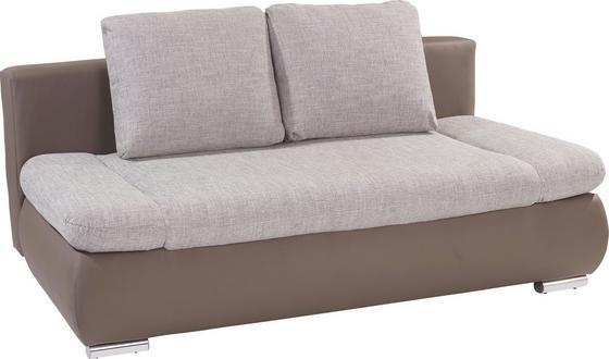 Sofa Cannes B: 202 cm - Schlammfarben/Beige, MODERN, Textil (202/97/71cm)