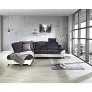 Wohnlandschaft City ca. 203x281 cm Grau/Weiß - Silberfarben/Weiß, MODERN, Holz/Textil (203/281cm) - Luca Bessoni