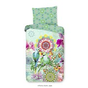 Bettwäsche Cilou 140/200cm Mintgrün/Multicolor - Multicolor/Mintgrün, Basics, Textil