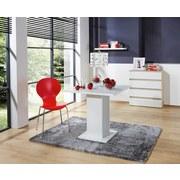 Stuhl Basic Rot - Chromfarben/Rot, KONVENTIONELL, Holz/Metall (45/88/50cm)