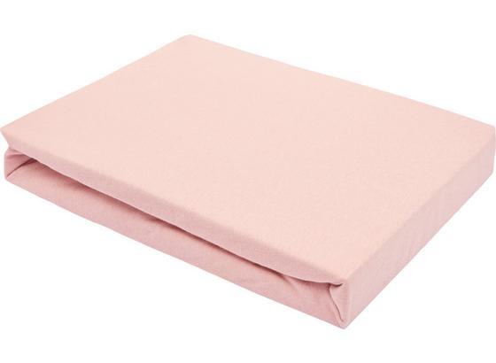 Prostěradlo Napínací Basic - růžová, textil (180/200cm) - Mömax modern living