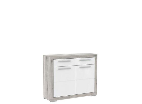 Botník Atrium - bílá/pískové barvy, Moderní, kov/kompozitní dřevo (118,6/96,9/36,3cm) - Mömax modern living