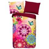 Wendebettwäsche Ernesta - Rot/Multicolor, MODERN, Textil