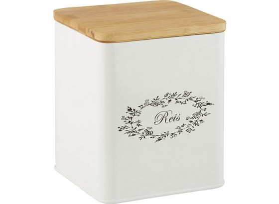 Box S Víkem Lore - bílá, Romantický / Rustikální, kov/dřevo (14/14/16cm) - Zandiara