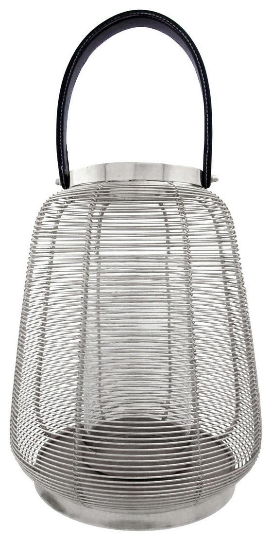 Windlicht Ø 28 cm - Silberfarben, MODERN, Metall (28/31cm)