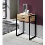Nočný/prístavný Stolík Industry - prírodné farby/čierna, Moderný, kov/kompozitné drevo (41/60/30cm) - Luca Bessoni