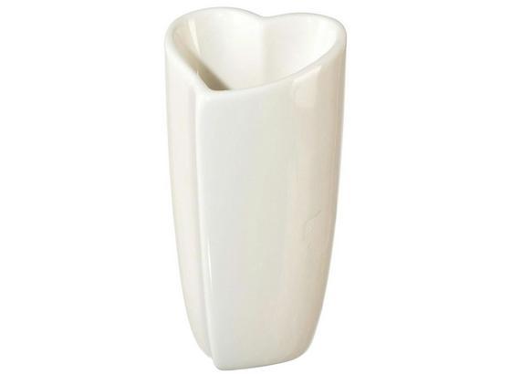 Váza Vera I - bílá, Romantický / Rustikální, keramika (10,5/10/20cm)