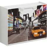 Schuhkipper New York 2 - Gelb/Schwarz, MODERN, Kunststoff (51/40,1/17,3cm)