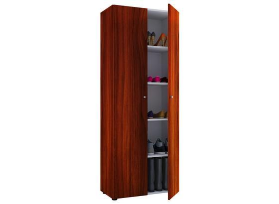 Mehrzweckschrank Vandol B: 70 cm - Nussbaumfarben/Schwarz, Basics, Holzwerkstoff (70/178/40cm) - Livetastic