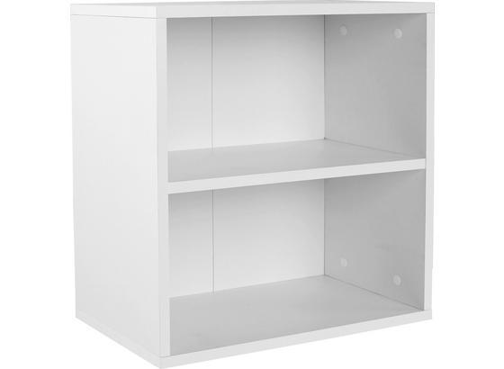 Nástenný Regál Elke Elr01 - biela, Moderný, kompozitné drevo (50/50/26cm)