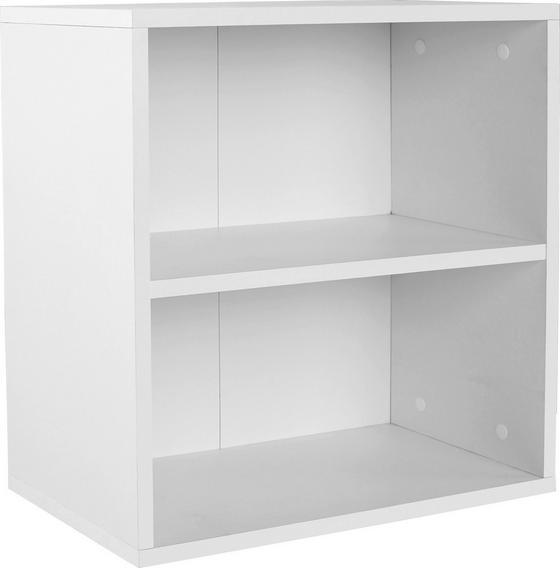 Regál Nástěnný Elke Elr01 - bílá, Moderní, dřevěný materiál (50/50/26cm)