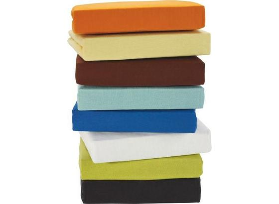 Prostěradlo Napínací Jersey - bílá/modrá, textil (100/200cm) - Mömax modern living