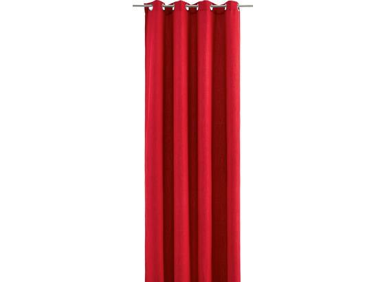 Záves S Krúžkami Ulli - červená, textil (140/245cm) - Mömax modern living