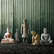 Budha Shun - sivá, Moderný, umelá hmota/kov (19/15/57,5cm) - MÖMAX modern living