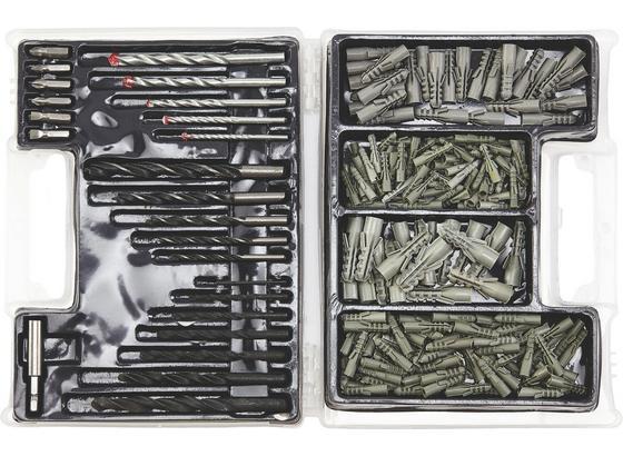 Kombikoffer 300 teilig - Silberfarben, KONVENTIONELL, Kunststoff/Metall