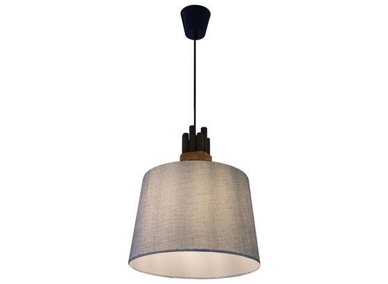 Hängeleuchte Bianca - Grau, MODERN, Holz/Textil (33/139cm)
