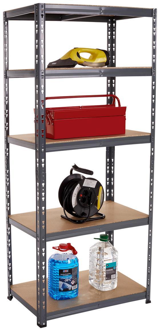 Schwerlastregal Work - Anthrazit, KONVENTIONELL, Holzwerkstoff/Metall (80/177/40cm)