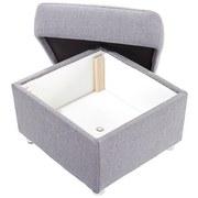 Sitzwürfel Sonoma - Chromfarben/Hellgrau, KONVENTIONELL, Textil (58/45/58cm) - Ombra