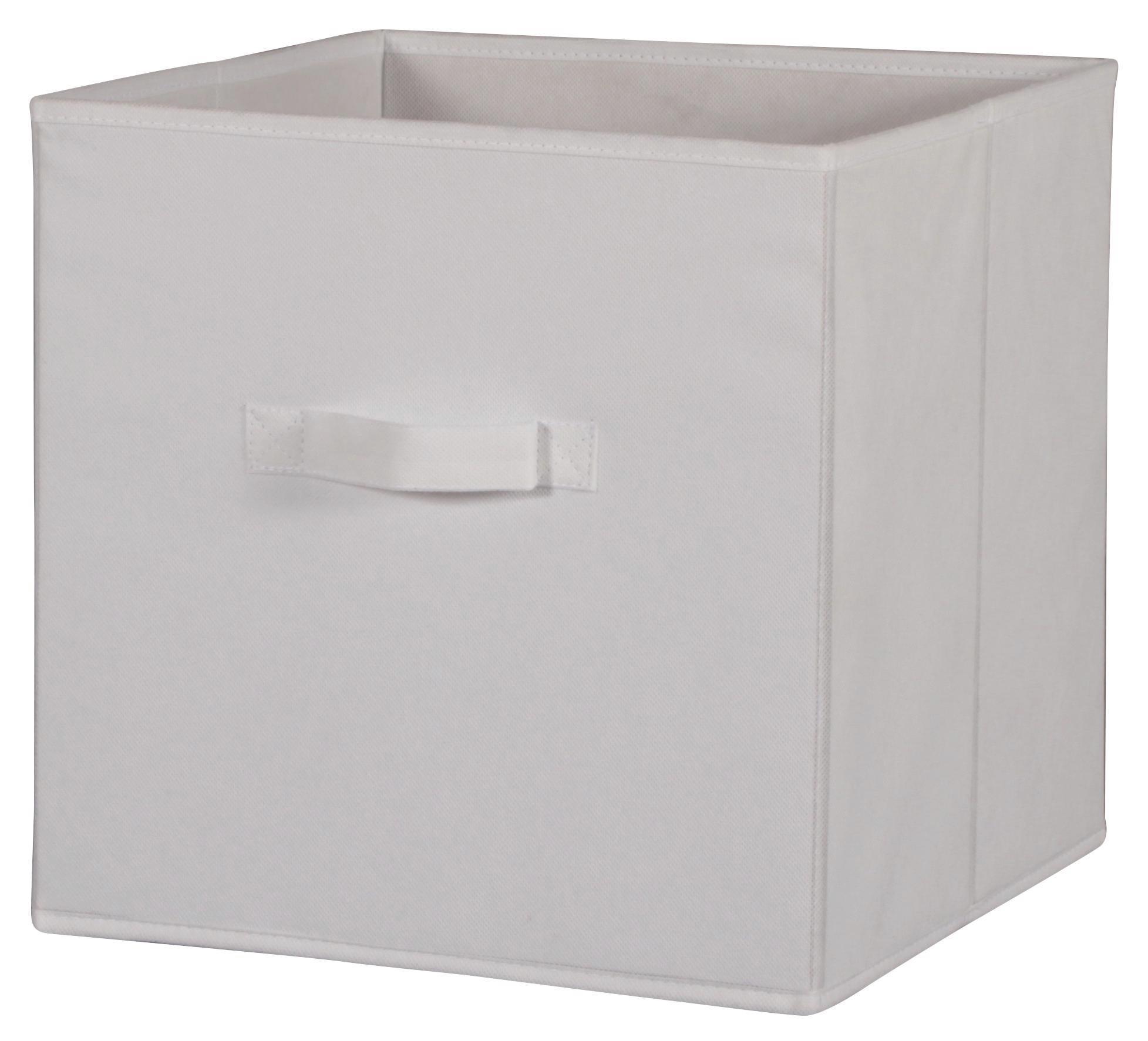 Faltbox Cliff 3 - Weiß, MODERN, Textil (32/32/32cm)