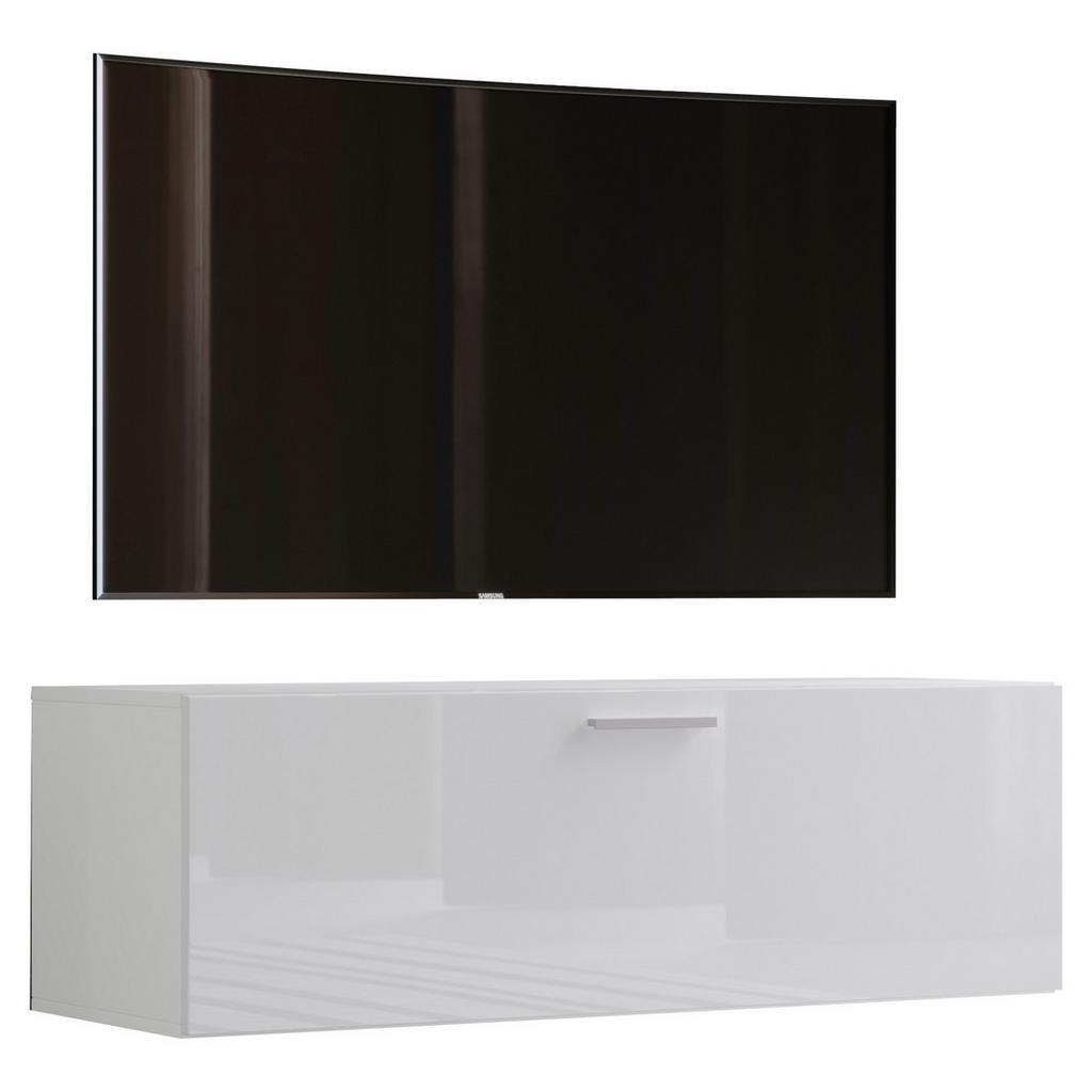 Tv - skrinka Fernso Š: 115 Cm Biela Vysoký Lesk