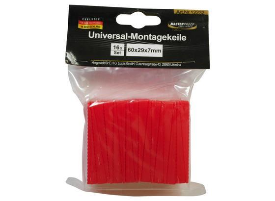 Möbelkeil Universal - Rot, Basics, Kunststoff (6/2,9/0,7cm)