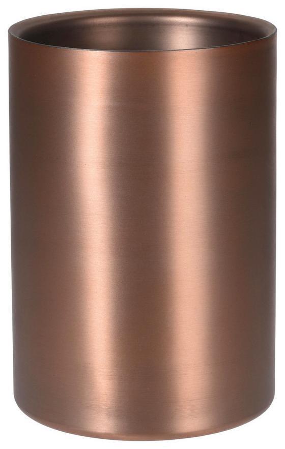 Weinkühler Ø 22 cm - Bronzefarben, MODERN, Metall (21cm)