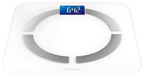 Personenwaage Bs 430 Connect - Weiß, MODERN, Kunststoff/Metall (32,5/32,5/2,5cm) - Medisana
