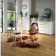 Stuhl Patchwork - Buchefarben/Multicolor, MODERN, Holz/Kunststoff (48/83,5/55,5cm) - Ombra