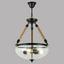 Hängeleuchte Ernie - Klar/Schwarz, MODERN, Glas/Weitere Naturmaterialien (41/126cm)