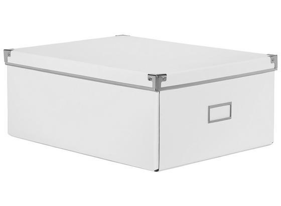 Box Úložný Lorenz - bílá, kov/karton (43,8/32,4/17,5cm) - Mömax modern living