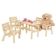 Kinder-loungegarnitur Molde - Kieferfarben, MODERN, Holz