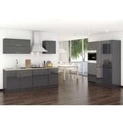 Küchenblock Mailand B: 380 cm Anthrazit - Anthrazit/Weiß, Basics, Holzwerkstoff (380/200/60cm) - MID.YOU