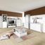 Komoda Highboard Malta - šedá/bílá, Moderní, kompozitní dřevo (96/132/35cm)
