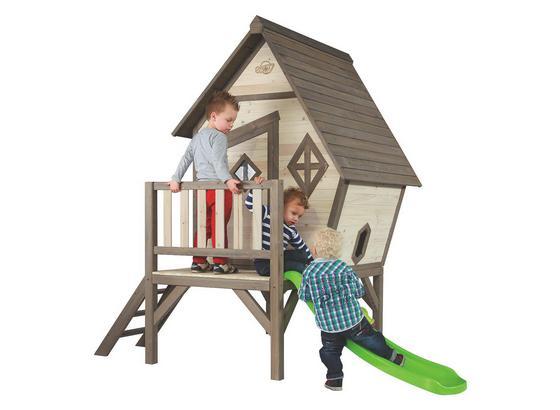 Domek Na Hraní Plaxhouse Cabin Xl - tmavě hnědá/hnědá, Konvenční, dřevo (260/215/167cm)