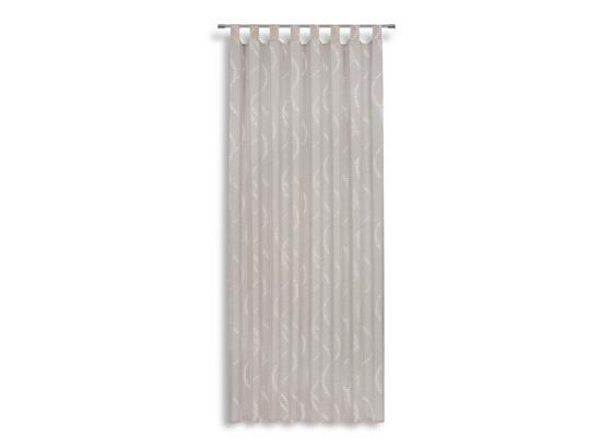 Kombivorhang Gertrud - Silberfarben, MODERN, Textil (140/255cm) - Luca Bessoni