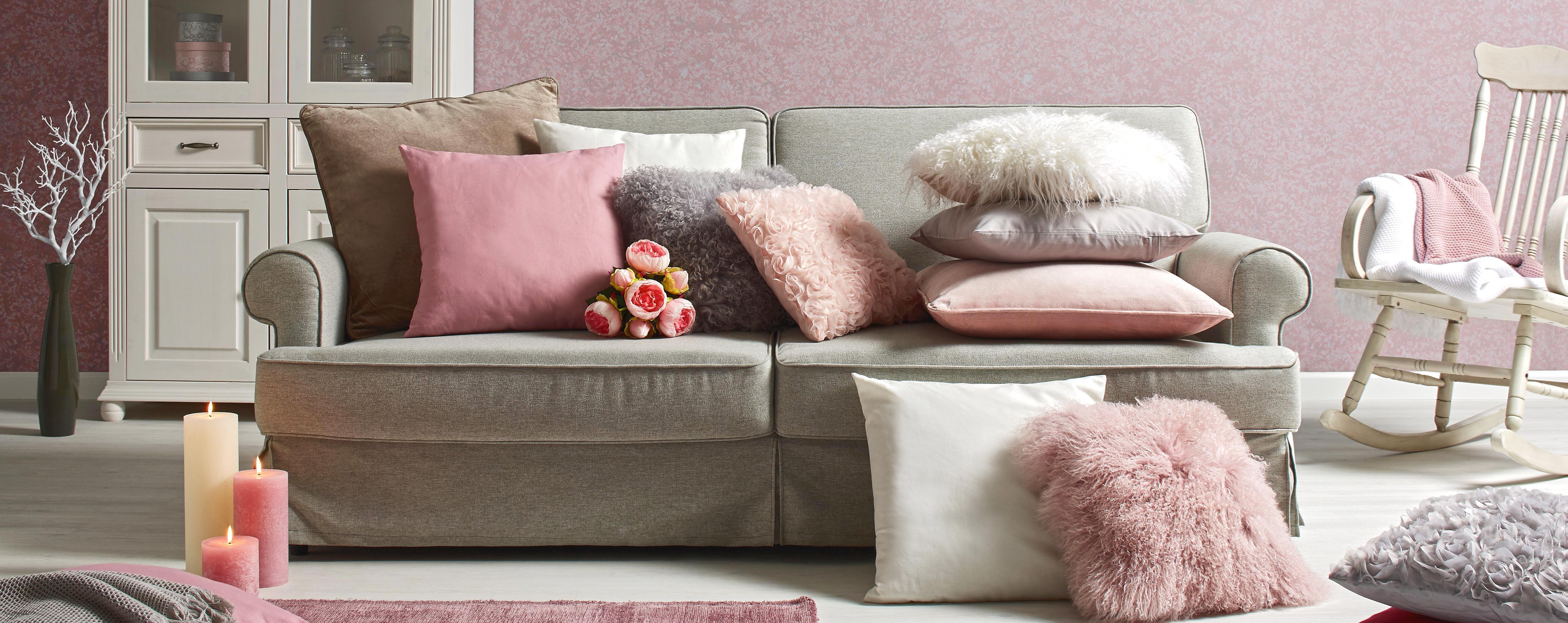 Polštář Ozdobný Shaun - růžová, textil (40/40cm) - PREMIUM LIVING