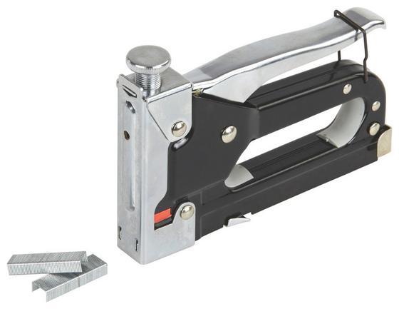 Tacker Schlagkraft Verstellbar - Silberfarben/Schwarz, KONVENTIONELL, Metall