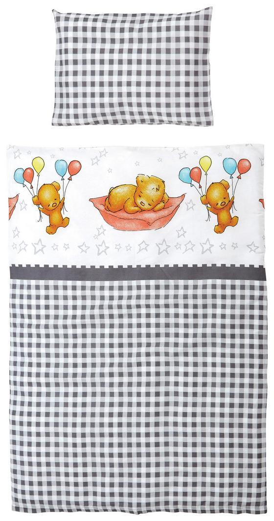 Kinderbettwäsche Lea - Braun/Grau, KONVENTIONELL, Textil
